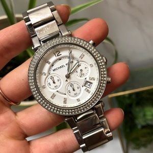 Michael Kors Parker Chronograph Crystal Watch